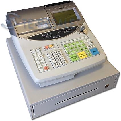 Casio Te 2200 Caja registradora – 76 (LCD, LED, Sector, 0 – 40 °C, 10 – 85%): Amazon.es: Oficina y papelería