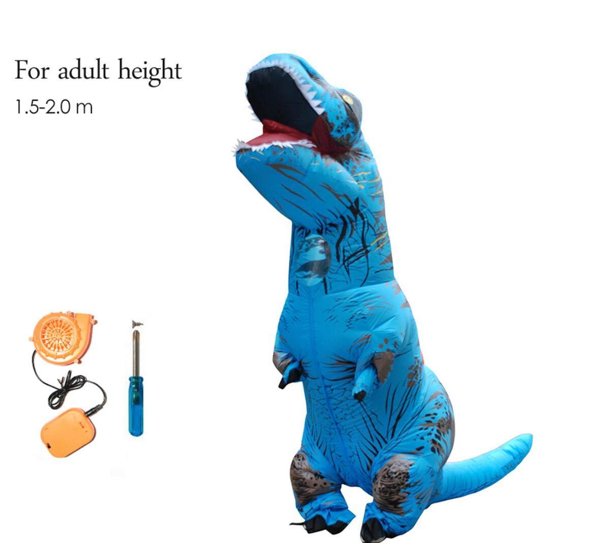 About Beauty Aufblasbare Dinosaurier T Rex Kostüm Jurassic World Park Blowup Dinosaurier Cosplay Aufblasbare Kostüm Party-Kostüm Für Erwachsene Kinder