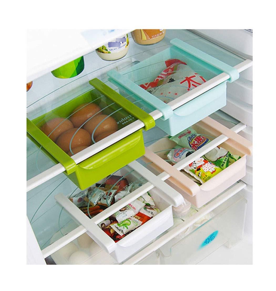 Rack de almacenamiento multiuso Refrigerador multifuncional Caja de almacenamiento Pl/ástico Cocina Refrigerador Congelador Caj/ón Partici/ón Acabado Rack Organizaci/ón para ahorrar espacio en la cocina