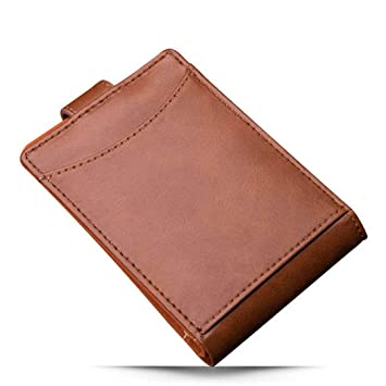 dca13766a89 SaoLangtame Minimalist Men Wallet Vintage Leather Portfolio Wallet Purse  for Male Slim Clamps Carteira Masculina Brown