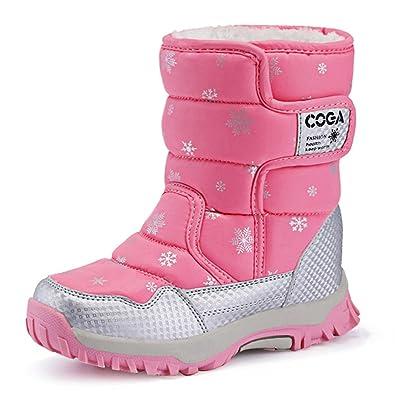 06615dfdd2d47  BIGU  ブーツ キッズ ジュニア スノーブーツ ガールズ ボーイズ 中綿入り雪用 長靴 冬