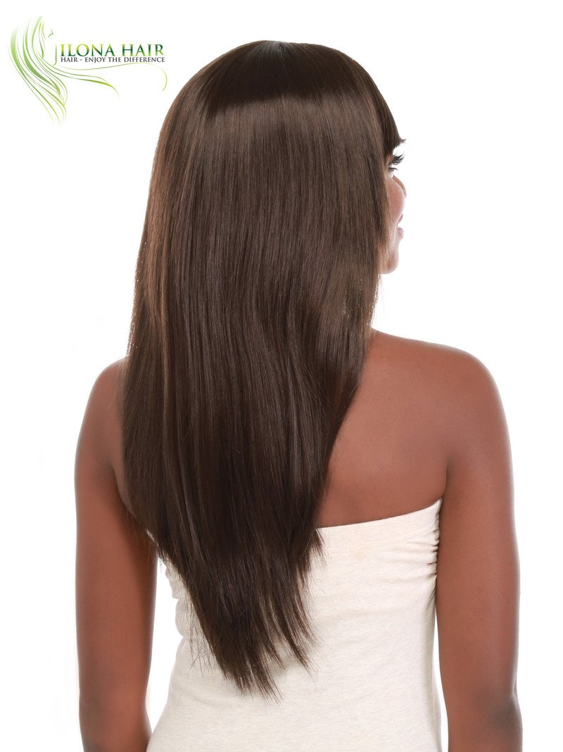 ... Layers Cut With Bang for Black Woman BROOK. Part of our African-American collection. Brown Red Ombre Color F3240A Chopped Cut Style peluca (6) : Beauty