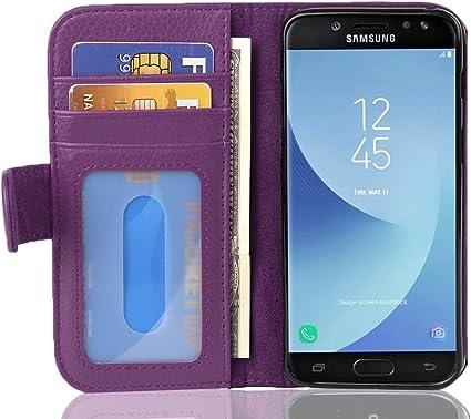 Cadorabo Funda Libro para Samsung Galaxy J5 2017 en Burdeos Violeta – Cubierta Proteccíon con Cierre Magnético e 3 Tarjeteros – Etui Case Cover Carcasa: Amazon.es: Electrónica