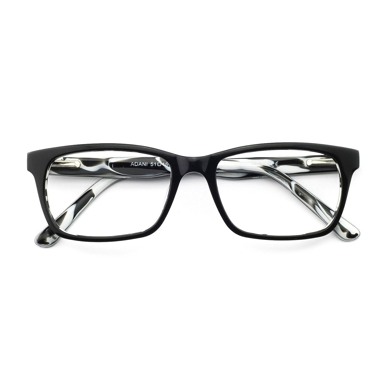 OCCI CHIARI Mens Rectangle Fashion Stylish Acetate Eyewear Frame With Clear Lens