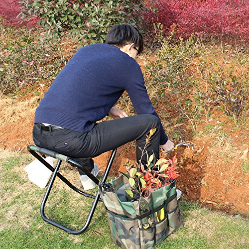 sornean Garden Folding Seat with Detachable Tote,without Tools-Best Gift for Gardeners by sornean (Image #4)