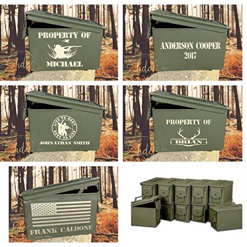 Personalized Cottage (Personalized ammunition box, Ammo box , unique groomsman gifts , hunter ammo box, personalized ammo boxes..$39.99 &)