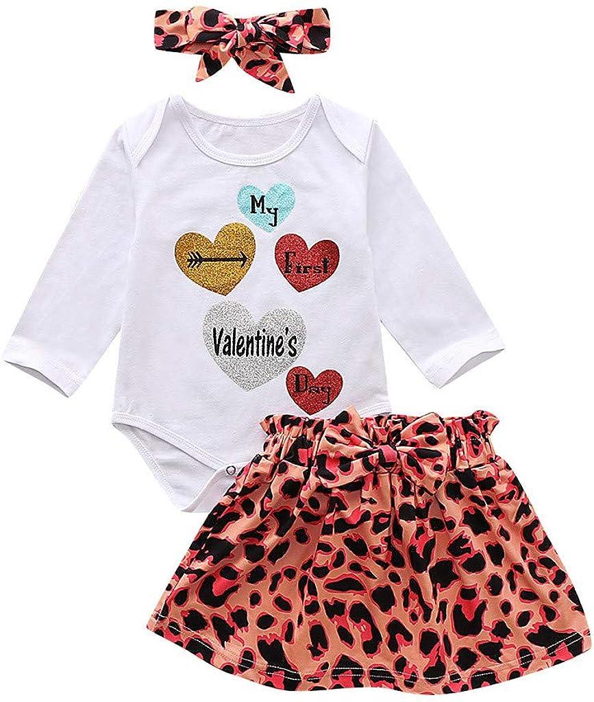 Jupe Tutu Deguisement Enfant Beikoard B/éb/é Fille Gar/çon Saint Valentin Tenue Bodys Tops Impression de Lettre