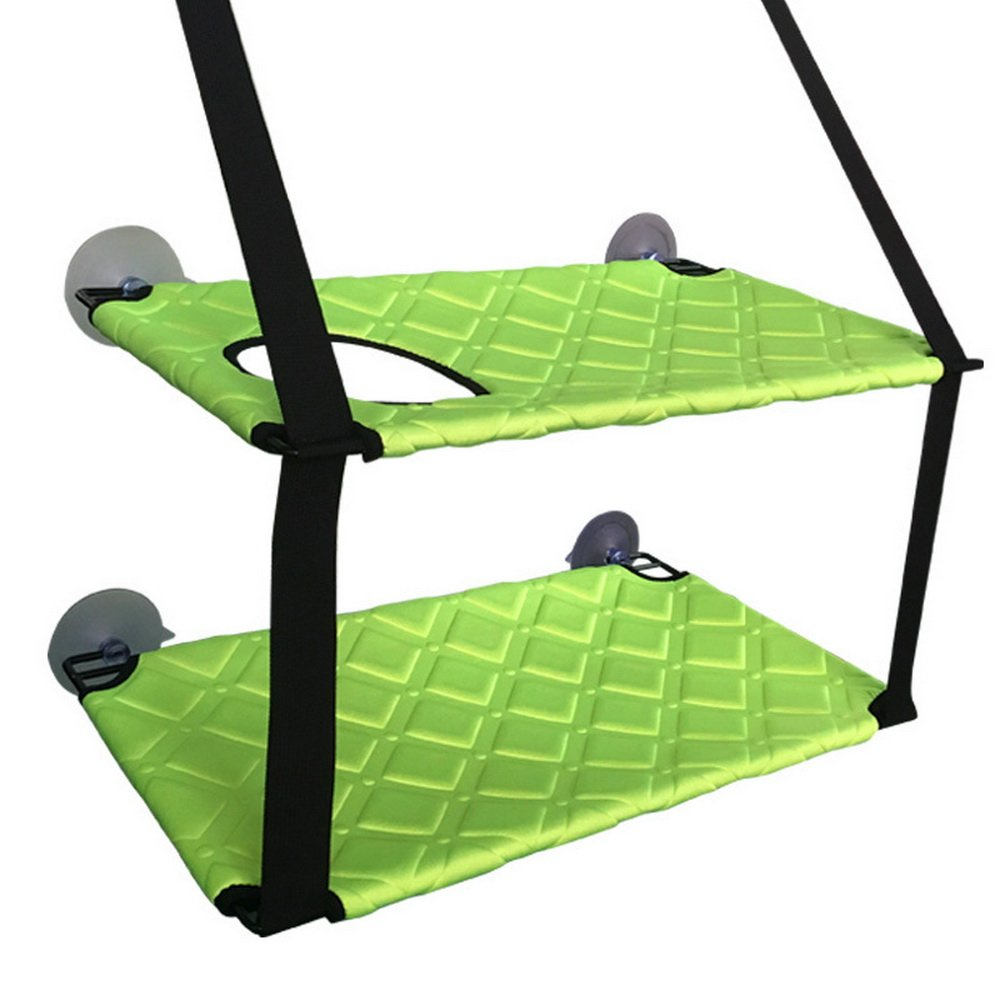 Green 5933CM Green 5933CM Cysincos Cat Window Perch Hammock Bed Kitty Sunny Mats Frames Liners 59x33CM