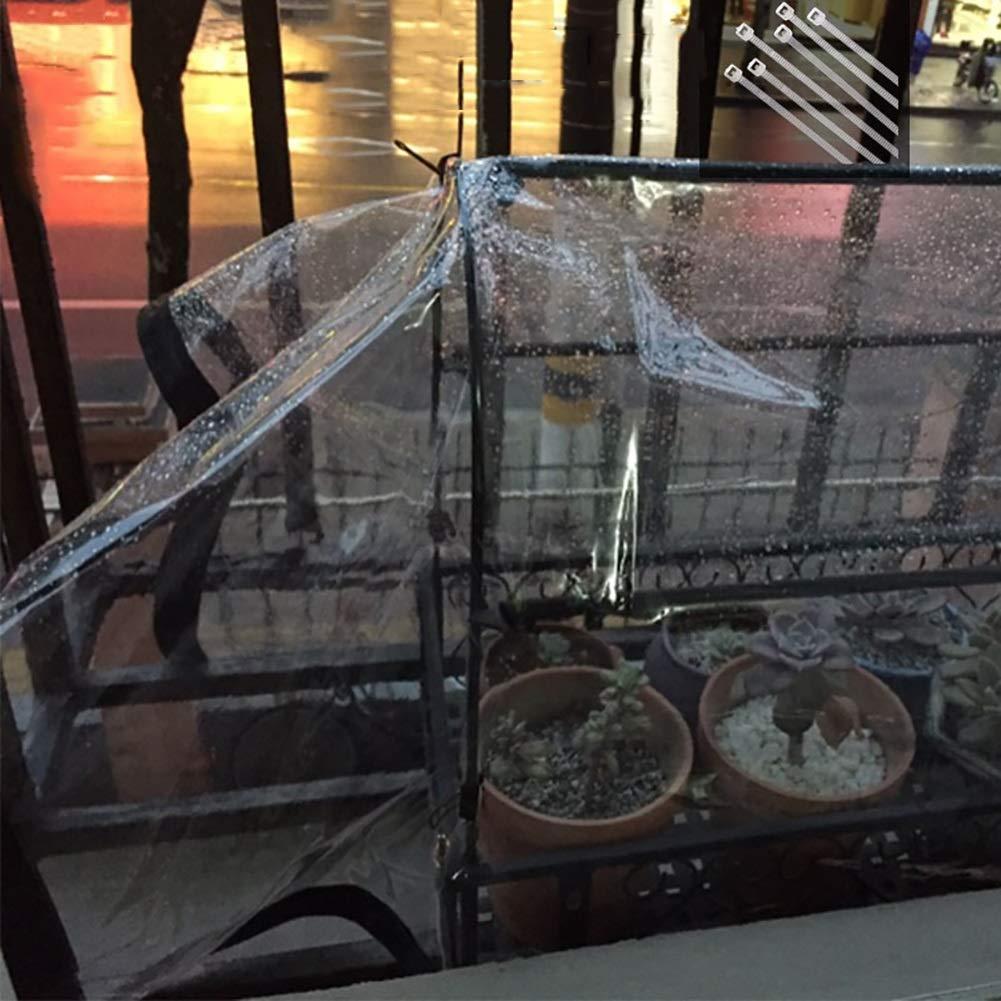 JNYZQ Verdicken Sie transparente Plane Plane Plane Clear Rainproof Shed Cloth Tarps mit Ösen Grün Plant Regen Film Bodenhüllen Klar, 125g   m² (größe   2x2M) B07LGVBTP2 Zeltplanen Online-Exportgeschäft 002e44
