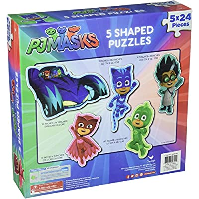Set of 5~24 Piece PJ Masks Shaped Puzzles: Toys & Games