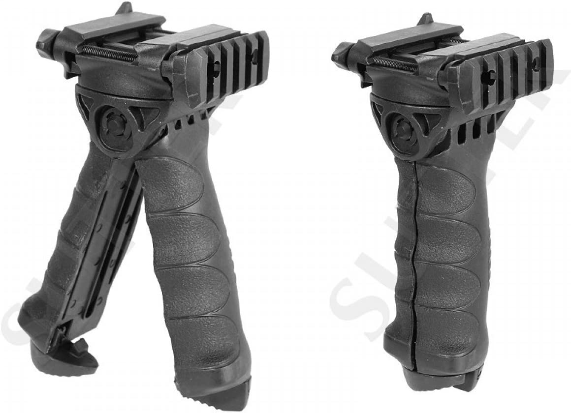 Black Tactical Classic Vertical Grip Foregrip Ergonomic Picatinny Rail