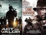 Lone Survivor True Story & Act of Valor War Courage Movie Bundle Set