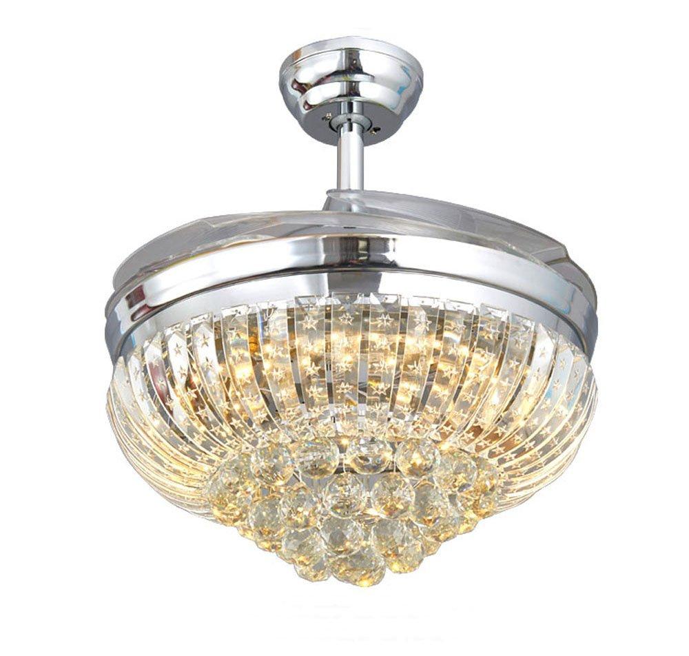 Huston Ventilador 42 cm cristal lámpara de techo con ...