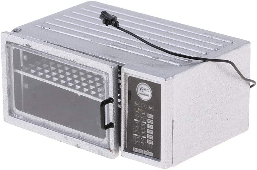 B Blesiya Mini Microondas Electrodomésticos, Accesorio Decorativo a Escala 1/12, Juguete de Simulación para Niños