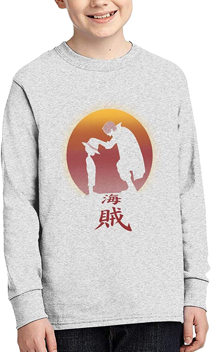 I Will Be The Pirate King Boys Long Sleeve T-Shirt,Fashion Youth Tops