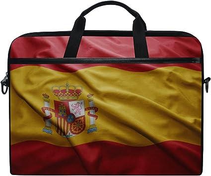 Bandera de España 14 Pulgadas Portatil Bandolera Bolsa Funda Maletín con Asa para Mujer Hombre: Amazon.es: Equipaje