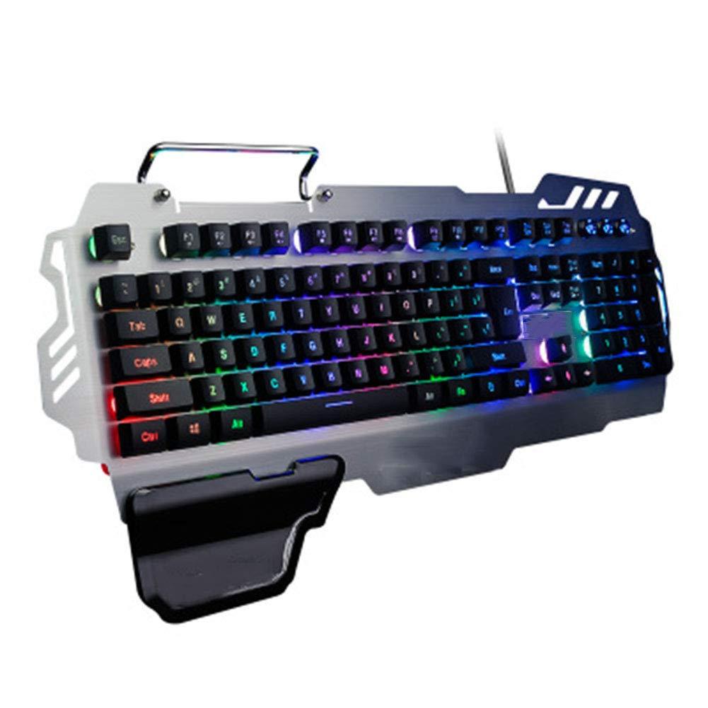 FASBHI Gaming Keyboard, Wired Laptop USB Mechanical Hand Metal Light Mobile Phone Bracket Keyboard by FASBHI