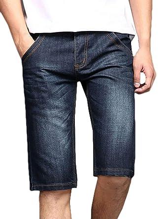 Pantalones Cortos Vaqueros Del Dril Los De De Algodón ...