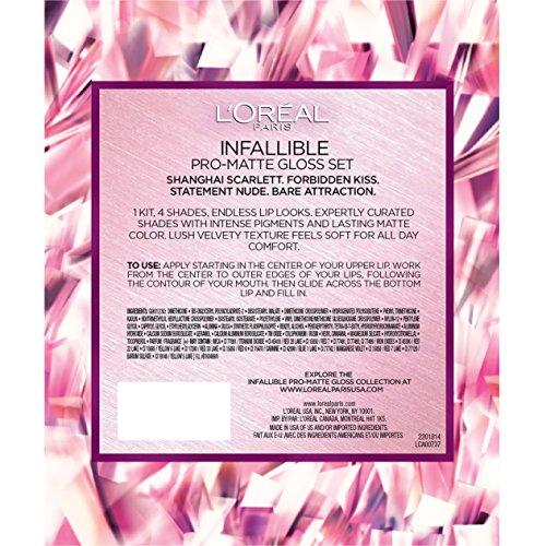 L'Oreal Paris Cosmetics Infallible Pro-Matte Lip Gloss Set