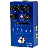 FLAMMA FS03 Delay Pedal Stereo Digital Guitar Effects Pedal with 80 Second Looper 6 Effects Storable Preset Tap Tempo Trail O