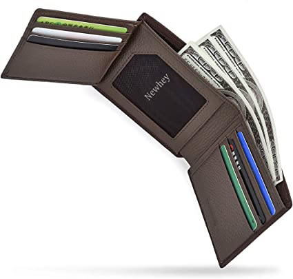RFID Blocking Wallet with Gift Box HEXET Mens Bifold Wallet Leather Wallets for Men