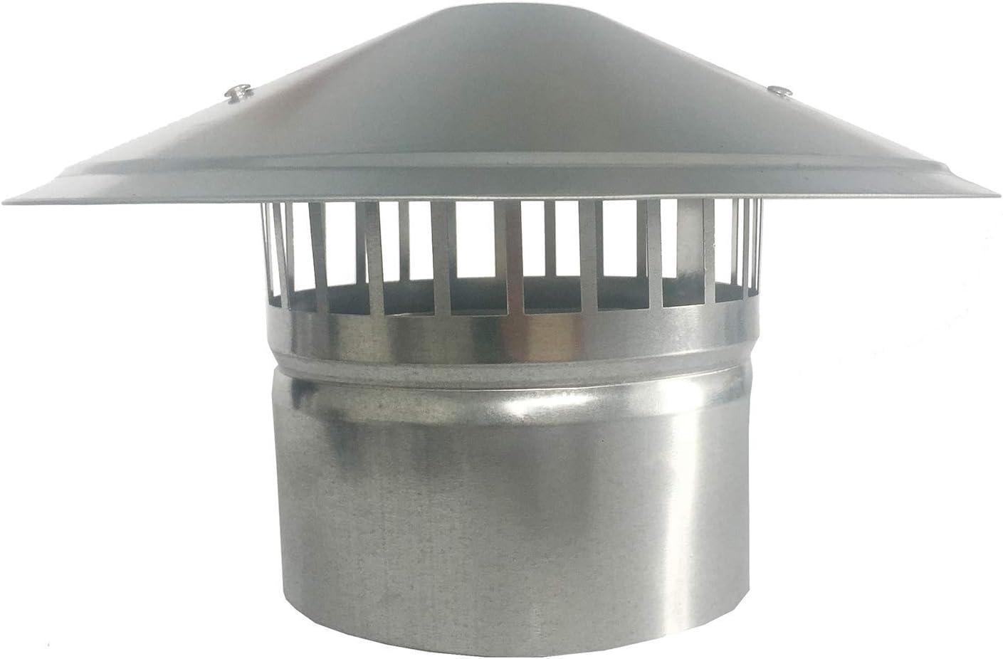 DZDZXQG Campana de Lluvia de 75-200 mm/Cubierta de Chimenea/Cubierta de Chimenea en Esquinas Redondeadas de Acero Inoxidable, 75 mm