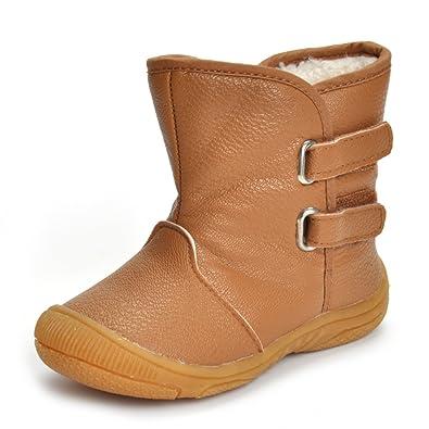 e81c783f5289c Matt Keely Enfants Garçon Fille Bottes de Neige Bébé Hiver Chaussures  Bambin Bottines Marron 23 EU