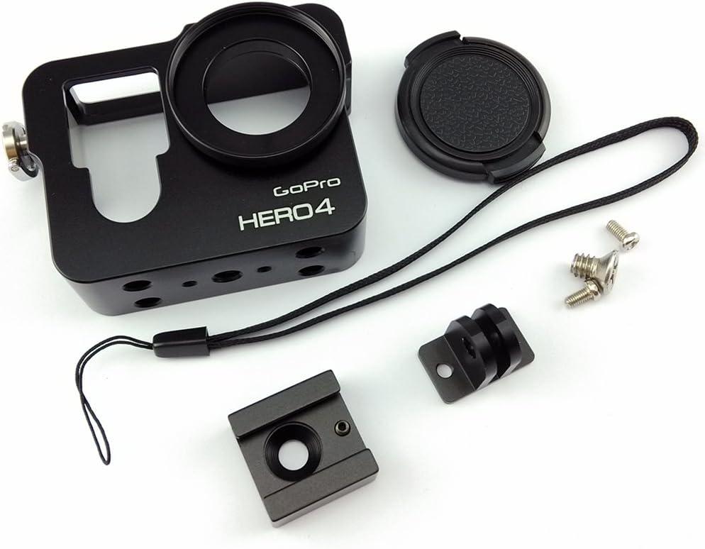 Snail Shop Aluminium Metal Skeleton Rugged Frame Protective Case for Gopro Hero4,hero3 /& Hero3 Camera parallel Import Goods silver