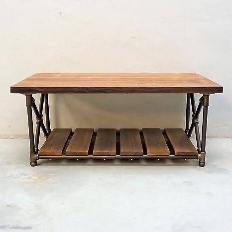 Miraculous Amazon Com Furniture Pipeline Rustic Rectangle Coffee Table Machost Co Dining Chair Design Ideas Machostcouk