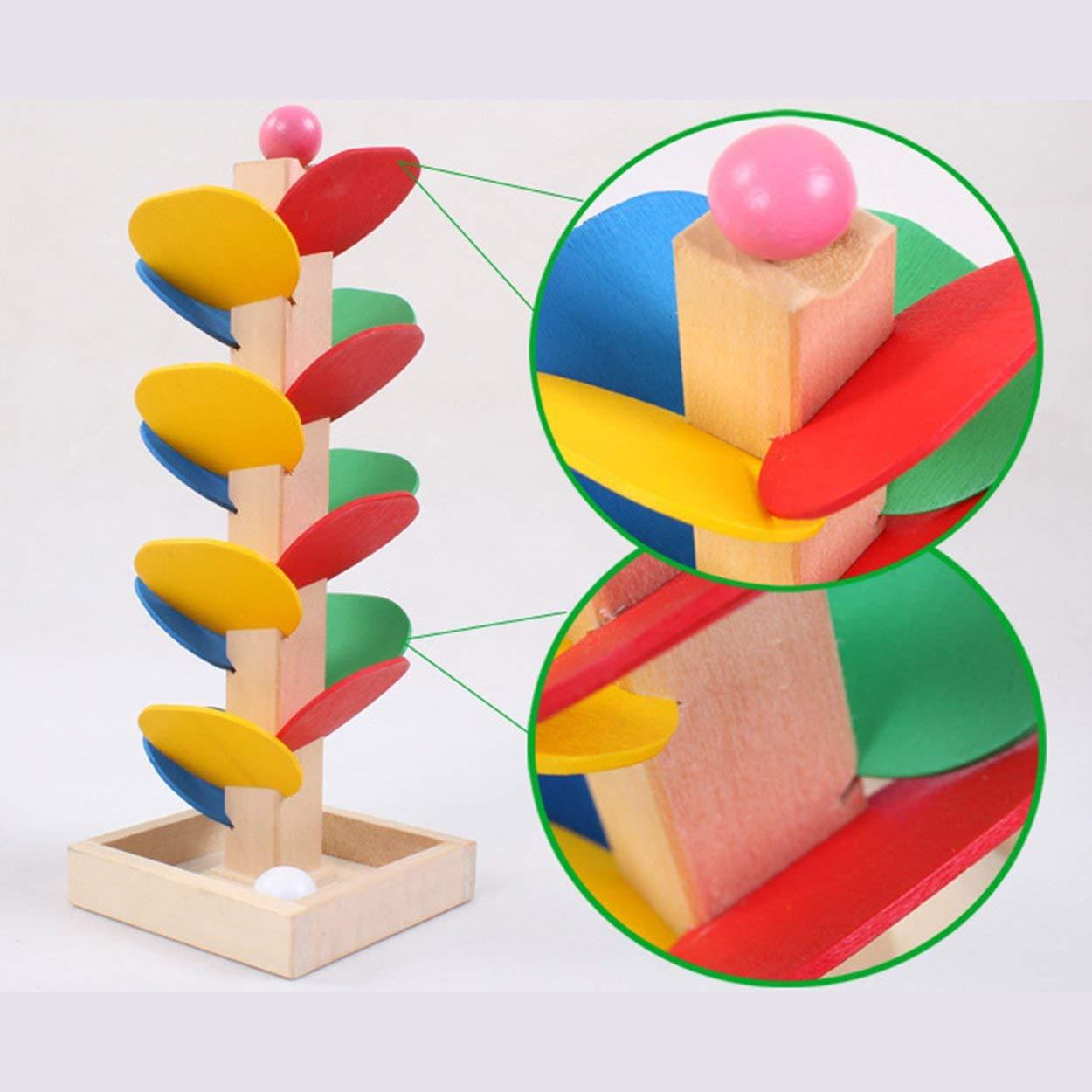 Lorenlli Montessori Jouet /Éducatif Arbre en Bois Marbre Balle Piste Piste Jeux B/éb/é Enfants Intelligence Jouet /Éducatif