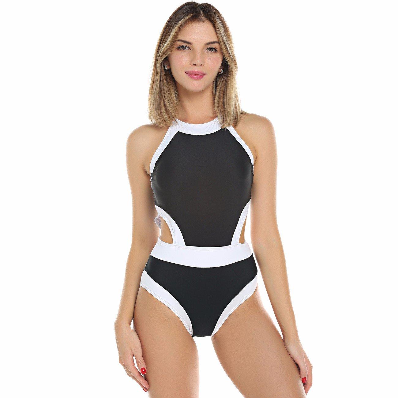 e6406b9e7a KIWI RATA 2018 New Women One Piece Bandage Style Swimsuit Padded Push Up  Backless Monokini Bathing Bikini Swimwear at Amazon Women's Clothing store: