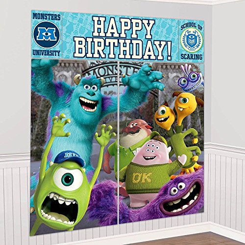 Monsters University Inc. Giant Scene Setter Wall Decorating Kit (5pc) - Monsters Inc Party Supplies