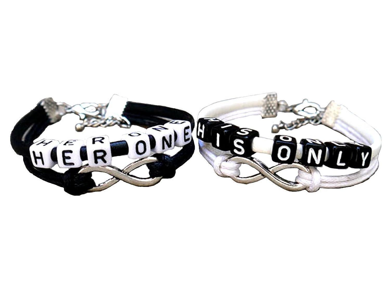 Amazon.com: Couples Bracelets, infinity Love Bracelet, her One His ...