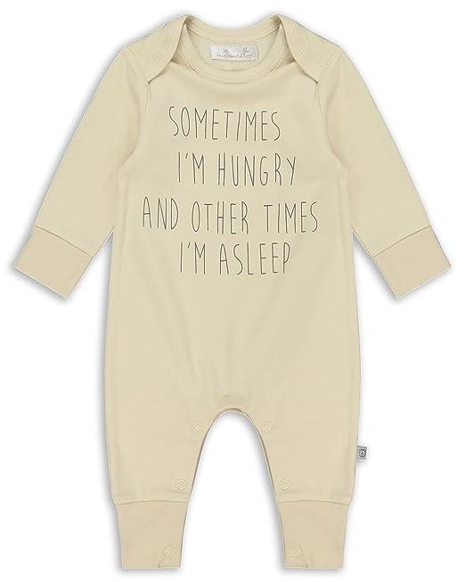 The Essential One - Bebé Pijamas Tipo Pelele Sometimes Hungry - Crema - Recién