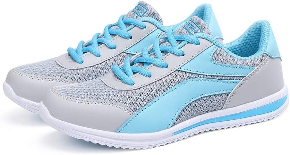 Zapatos para Correr Mujeres Deporte al Aire Libre Transpirable Zapatillas de Deporte Ligeras Cojín de Aire atlético Caminar Antideslizante Atar hasta Zapatillas de Deporte: Amazon.es: Zapatos y complementos