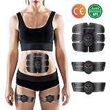 Charminer Elektrostimulation, Elektrischer Muskelstimulation EMS-Training Muskelaufbau und Fettverbrennungn Massage-gerät Home Fitness Machine leicht zu Tragen für Mann Damen Geschenk