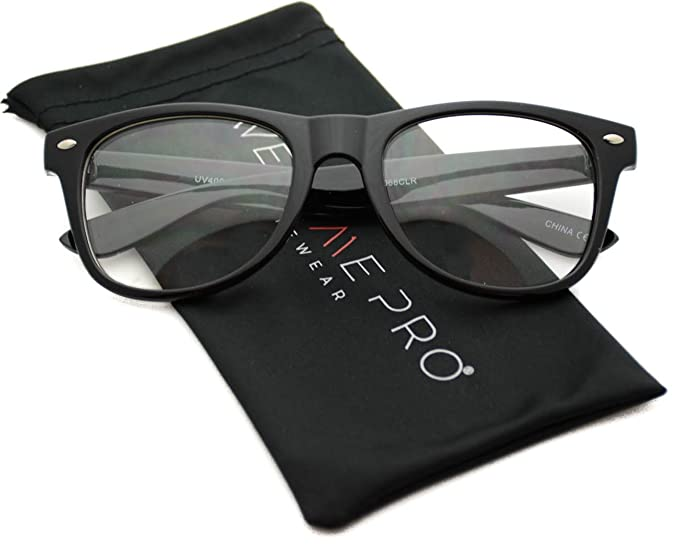 0d76d870968ea Amazon.com  Clear Frame Glasses Nerd Clear Lens Sunglasses  Clothing
