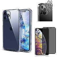 Kit Capa Capinha, Película 9D Privacidade, Película de Câmera 3D para iPhone 12, iPhone 12 Pro, iPhone 12 Pro Max…