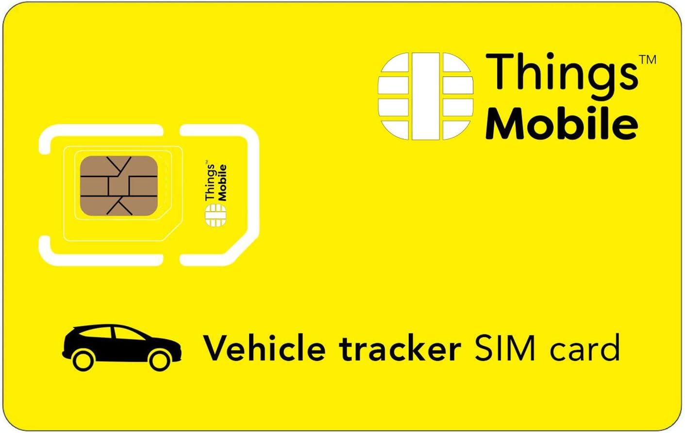 Tarjeta SIM para LOCALIZADOR / TRACKER GPS de COCHES - Things Mobile - con cobertura global y red multioperador GSM/2G/3G/4G, sin costes fijos y con tarifas competitivas. 10 € de crédito incluido