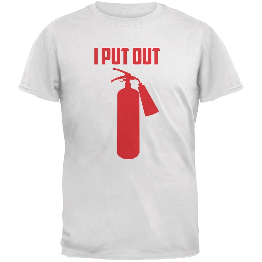 Old Glory I Put Out Fire Extinguisher White Adult Tank Top