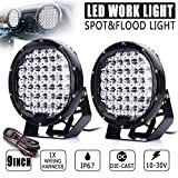 ZHUOTOP 9Inch 690000LM SUV Car LED Work Light Spot Flood Driving Lamp Offroad Truck 7650W 45LED