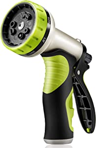 Garden Hose Nozzle 10 Patterns Hose Sprayer Heavy Duty Plastic Water Hose Nozzle in Lawn and Garden Adjustable Hose Spray Nozzle for Garden Washing Cars Pets Window (Hose not included)