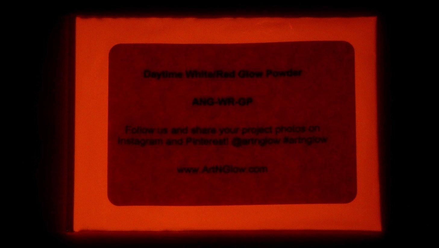 1 Ounce Glow in The Dark Pigment (30 Grams) - Waterproof (Neutral Red) by Art 'N Glow