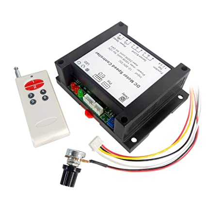 uniquegoods 12V-30V 24V 200W DC Wireless Remote Motor Speed