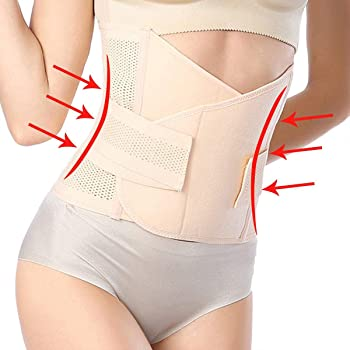 055b9ce3737 Postpartum Support Recovery Belly Belt Body Shaper Corset Belt with High  Elastic for Women and Maternity Recovering from Birth