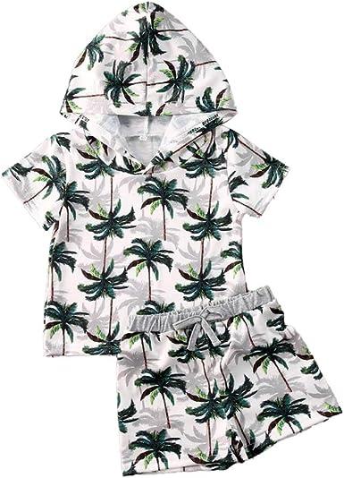 Ropa Conjuntos para Niño 2 Piezas Estilo Tropical 1 Camiseta ...