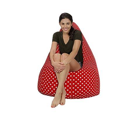 Sensational Buy Starfish Style Canvas Hd Printed Bean Bag With Beans Machost Co Dining Chair Design Ideas Machostcouk