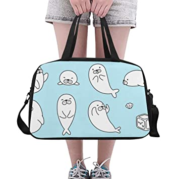 Gym Duffle Bag Small Seal Funny Lovely Move Yoga Gym Totes ...
