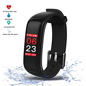 Montre Connectée Tension Arterielle Cardiofréquencemètre Podomètre,Vitroba S3 Bracelet Connecté Etanche IP67 Montre Sport GPS