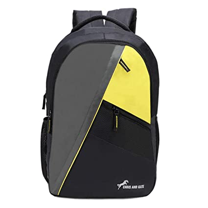 Chris   Kate Black-Yellow Spacious Backpack  30f1aaba803bc